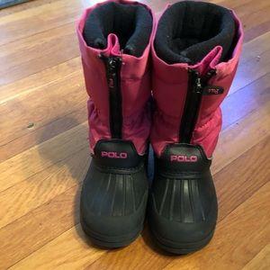 Ralph Lauren girls snow boots size 10